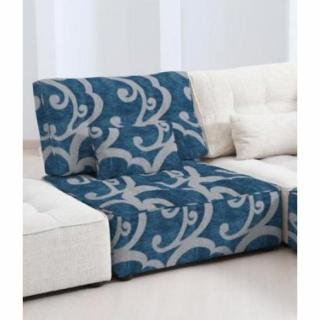 FAMA Chauffeuse modulable ARIANNE LOVE motifs bleu et gris clair 1 place