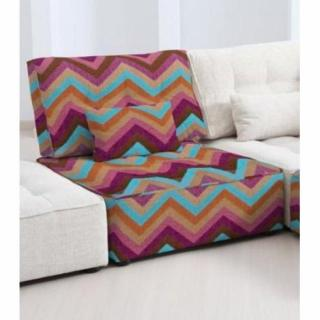 FAMA Chauffeuse  modulable ARIANNE LOVE motifs zigzag multicolor violet 1 place