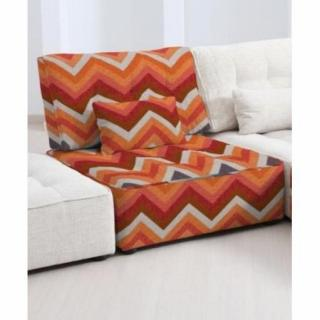 FAMA Chauffeuse modulable ARIANNE LOVE motifs zigzag multicolor orange 1 place