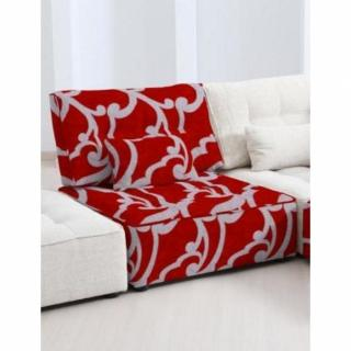 FAMA Chauffeuse  modulable ARIANNE LOVE motifs rouge et gris clair 1 place