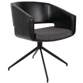 Fauteuil ARMCHAIR BEAU BLACK pivotant design noir