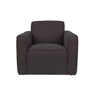 ZUIVER Fauteuil BOR tissu gris anthracite