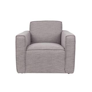 ZUIVER Fauteuil BOR tissu gris