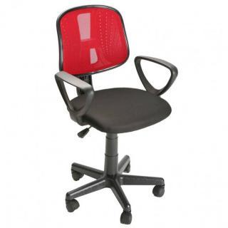 Fauteuil de bureau réglable RESILLE rouge
