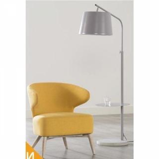 Fauteuil CHANEL design jaune avec piétement en chêne