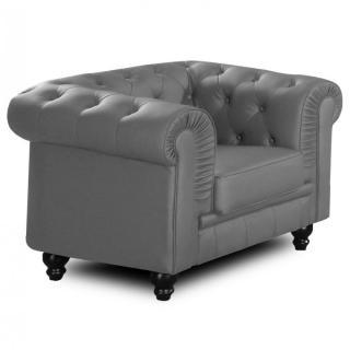 canap s convertibles ouverture rapido fauteuil fixe chesterfield royal gris capitonn inside75. Black Bedroom Furniture Sets. Home Design Ideas