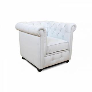 Canap chesterfield en cuir velour au meilleur prix fauteuil chesterfield royal blanc inside75 - Fauteuil chesterfield blanc ...