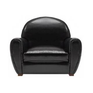 Fauteuil CLUB noir brillant en polyuréthane MADE IN ITALY
