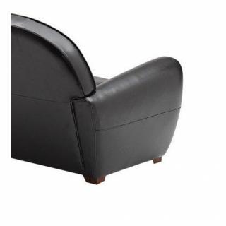 Fauteuils poufs design au meilleur prix fauteuil club noir brillant en - Fauteuil club cuir noir ...