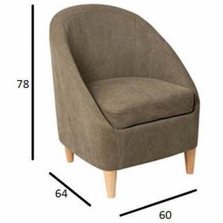 fauteuils et poufs canap s et convertibles petit fauteuil chic microfibre taupe inside75. Black Bedroom Furniture Sets. Home Design Ideas