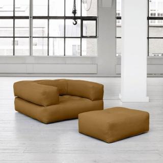 Fauteuil CUBE 3 en 1 futon camel couchage 90*190*25cm