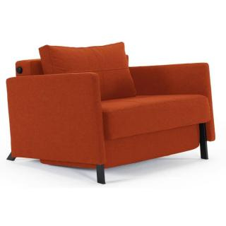 Fauteuil design avec accoudoirs SOFABED CUBED ARMS Mixed Dance Burned Orange convertible 200*96 cm