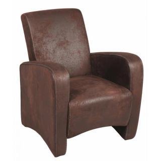 Petit fauteuil SEATED microfibre marron