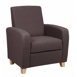 Petit fauteuil SEATED tissu prune