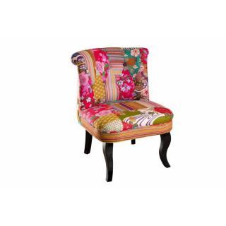 Fauteuil design cosy BETTY en coton tissu bohème