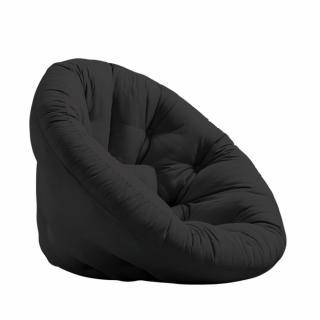Fauteuil futon design NILS coloris gris foncé couchage 90 x 180 cm.