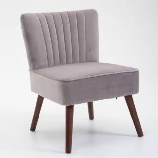 Fauteuil design scandinave GOËT velours gris
