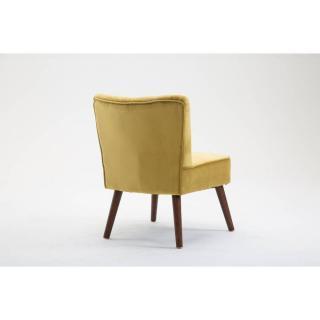 fauteuils et poufs canap s et convertibles fauteuil design scandinave go t velours jaune. Black Bedroom Furniture Sets. Home Design Ideas