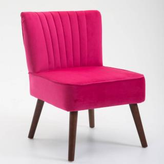 Fauteuil design scandinave GOËT velours rouge