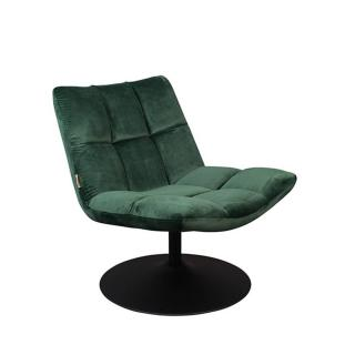 Fauteuil pivotant BAR LOUNGE de DutchBone velours VERT