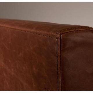 DUTCHBONE Fauteuil FEZ polyuréthane façon cuir marron