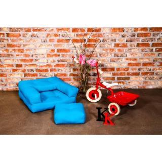 Fauteuil enfant CUBE 3 en 1 futon bleu azur couchage 60*135*12cm