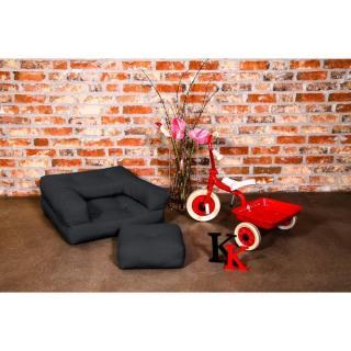 Fauteuil enfant CUBE 3 en 1 futon grey graphite couchage 60*135*12cm