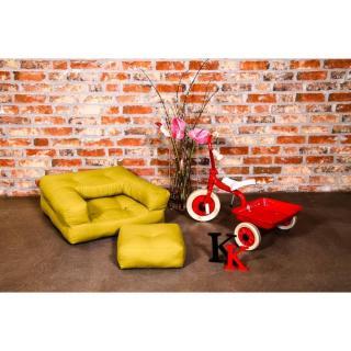 Fauteuil enfant CUBE 3 en 1 futon jaune couchage 60*135*12cm
