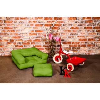 Fauteuil enfant CUBE 3 en 1 futon vert lime couchage 60*135*12cm