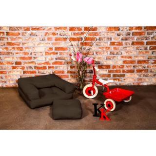 Fauteuil enfant CUBE 3 en 1 futon marron couchage 60*135*12cm
