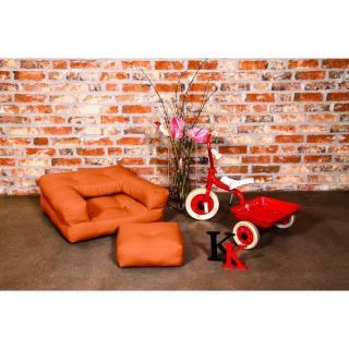Fauteuil enfant CUBE 3 en 1 futon orange couchage 60*135*12cm