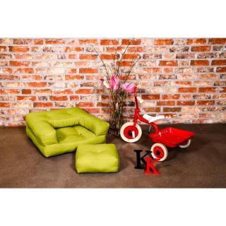 Fauteuil enfant CUBE 3 en 1 futon pistache couchage 60*135*12cm
