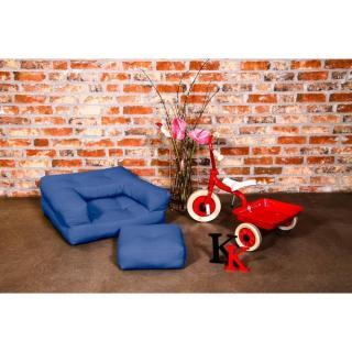 Fauteuil enfant CUBE 3 en 1 futon bleu royal couchage 60*135*12cm