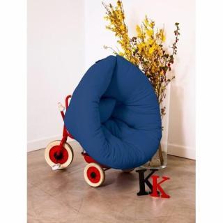 Fauteuil lit enfant NEST futon bleu royal couchage 75*150*10cm