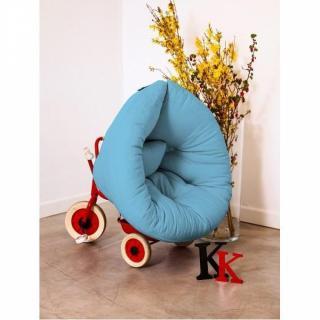 Fauteuil lit enfant NEST futon bleu celeste couchage 75*150*10cm