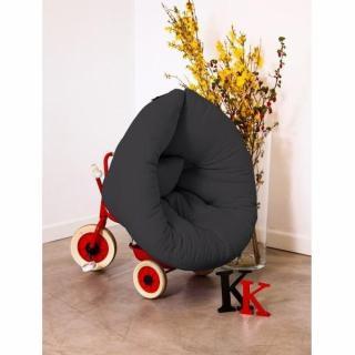 Fauteuil lit enfant NEST futon grey graphite couchage 75*150*10cm