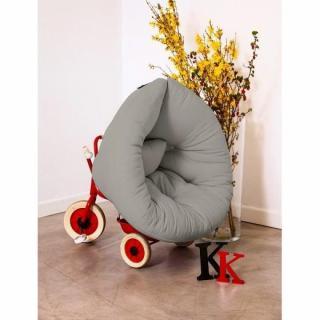 Fauteuil lit enfant NEST futon gris couchage 75*150*10cm