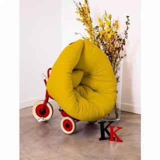 Fauteuil lit enfant NEST futon jaune couchage 75*150*10cm