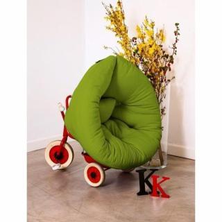 Fauteuil lit enfant NEST futon vert lime couchage 75*150*10cm