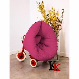 Fauteuil lit enfant NEST futon rose magenta couchage 75*150*10cm