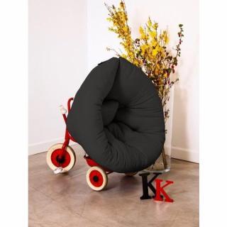 Fauteuil lit enfant NEST futon noir couchage 75*150*10cm