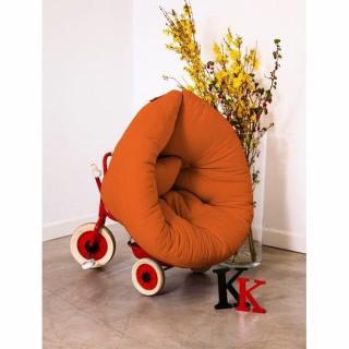Fauteuil lit enfant NEST futon orange couchage 75*150*10cm