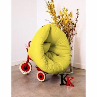 Fauteuil lit enfant NEST futon vert pistache couchage 75*150*10cm