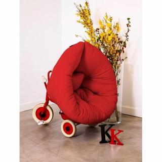 Fauteuil lit enfant NEST futon rouge couchage 75*150*10cm