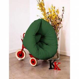 Fauteuil lit enfant NEST futon vert couchage 75*150*10cm