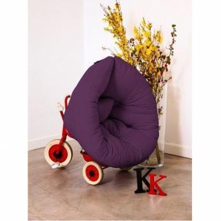 Fauteuil lit enfant NEST futon violet couchage 75*150*10cm