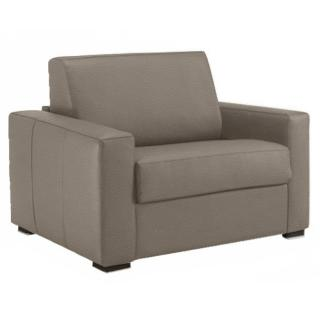 Fauteuil fixe DREAMER cuir vachette taupe