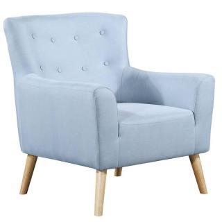 fauteuil fixe design scandinave BELLARIA tissu tweed