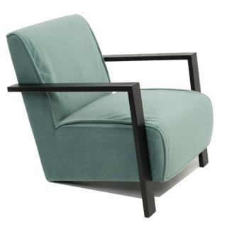 Fauteuil style contemporain UMA tissu velours vert