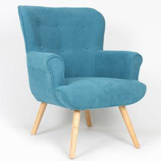 fauteuils design canap s et convertibles fauteuil fixe design scandinave funky tissu bleu. Black Bedroom Furniture Sets. Home Design Ideas